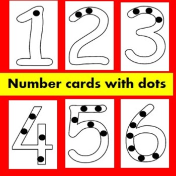 1-9 Number cards with dots