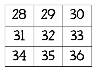 1 - 99 Number Flash Cards with Ten Frames