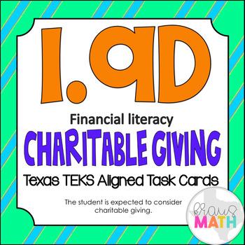 1.9D: Financial Literacy Charitable Giving TEKS Aligned Ta