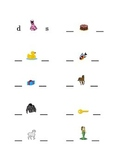 #1 Alphabet Write Beginning and Ending Consonants Pictures Kindergarten