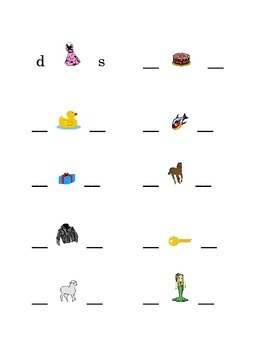 #1 Alphabet Write Beginning and Ending Consonants Pictures