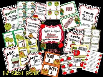 1 Apple, 2 Apples, Johnny Appleseed Literacy Unit