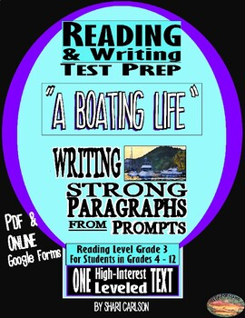 """Reading & Writing SBAC Test Prep & Guide ~1 Article """"A Boating Life""""~"""