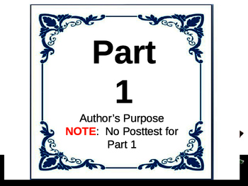 1 - Author's Purpose PowerPoint Lesson