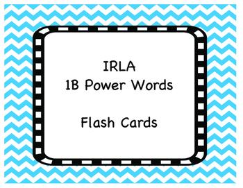 1 B Power Words Flash Cards