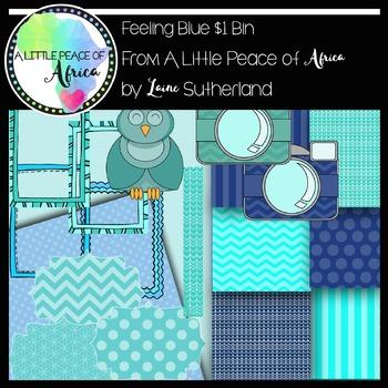 $1 Bin - Feeling blue? Clip Art Set