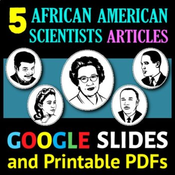 African American Scientists Articles Series - 5 Articles / Sub Plans Bundle