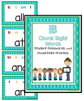 1 Blue Chunk Sight Words Password and Powerpoint