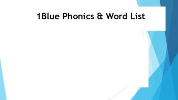 1st Grade Phonics Words and Flash Cards (1B)