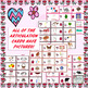 Valentine's Day Articulation Games Boards With Illustrated Game Cards