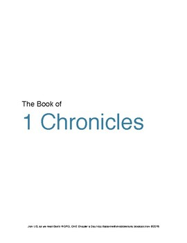 1 Chronicles WORD Guide