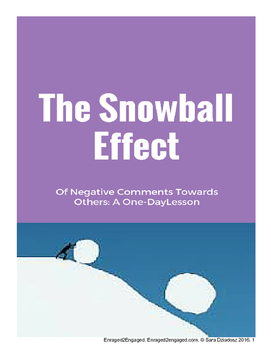 1-Day Lesson: The Snowball Effect of Negative Comments Towards Others