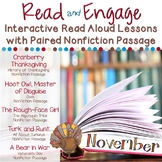 Interactive Read Aloud Lessons & Paired Nonfiction Passages November