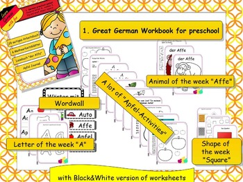 1. Deutsches Arbeitsbuch - 1. German workbook