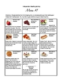 #1 - Differentiated menu of activities for independent rea