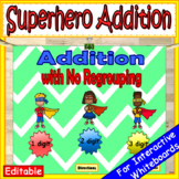 1 Digit, 2 Digit & 3 Digit Addition Without Regrouping EDITABLE