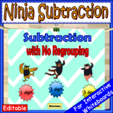 1 Digit, 2 Digit & 3 Digit Subtraction Without Regrouping EDITABLE