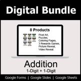 1-Digit Addition - Digital Bundle | Distance Learning