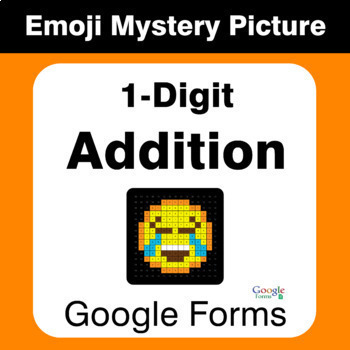 1-Digit Addition - EMOJI Mystery Picture - Google Forms