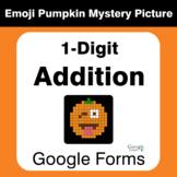 1-Digit Addition - EMOJI PUMPKIN Mystery Picture - Google Forms