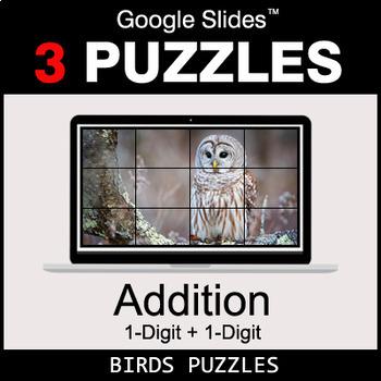 1-Digit Addition - Google Slides - Birds Puzzles