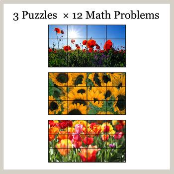 1-Digit Addition - Google Slides - Flower Puzzles