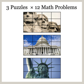 1-Digit Addition - Google Slides - President's Day Puzzles