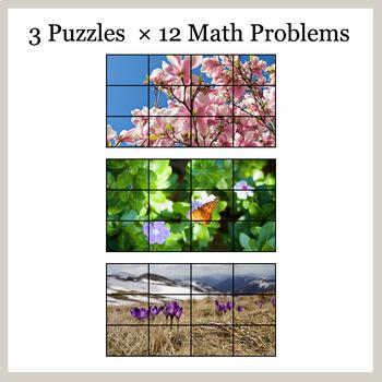 1-Digit Addition - Google Slides - Spring Puzzles