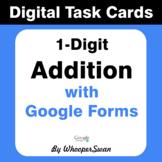 1-Digit Addition - Interactive Digital Task Cards - Google Forms