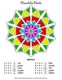 1-Digit Addition Mandala Math Color by Number