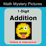 1-Digit Addition - Math Mystery Pictures / Color By Number - Online | Digital