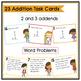 1 Digit Addition Task Cards