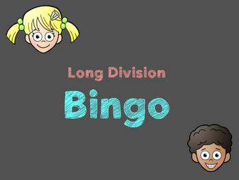 1 Digit Divisor Division BINGO