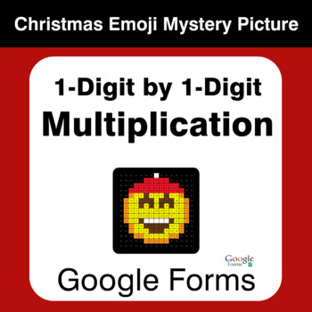 1-Digit Multiplication - Christmas EMOJI Mystery Picture - Google Forms