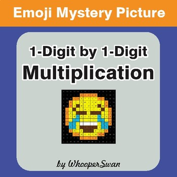Multiplication Color-By-Number EMOJI Mystery Picture