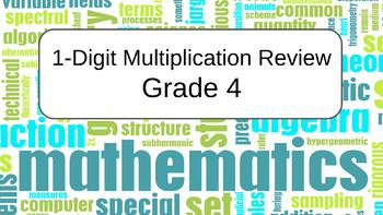 1-Digit Multiplication Review Grade 4