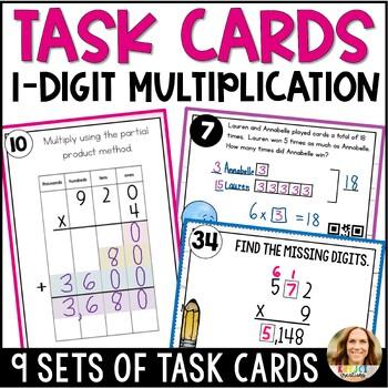1-Digit Multiplication of Whole Numbers BUNDLE