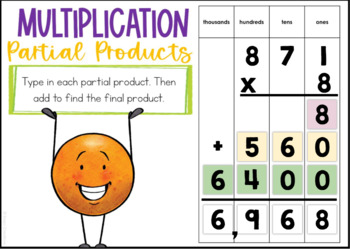 1-Digit Partial Product Multiplication Boom Cards
