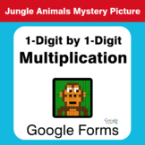 1-Digit by 1-Digit Multiplication - Animals Mystery Picture - Google Forms