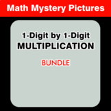 1-Digit by 1-Digit Multiplication - Math Coloring Worksheets BUNDLE
