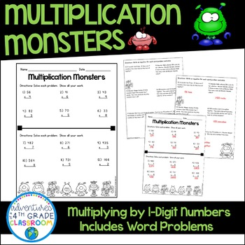 1-Digit by 2-Digit and 3-digit Multiplication