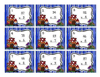 1-Digit by 2-Digit Multiplication Back to My Seat Station