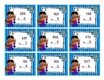 1-Digit by 3-Digit Multiplication Back to My Seat Station