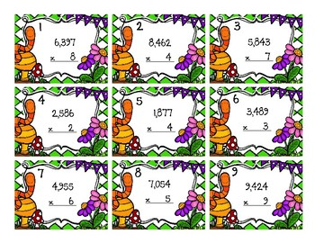 1-Digit by 4-Digit Multiplication Back To My Seat Station