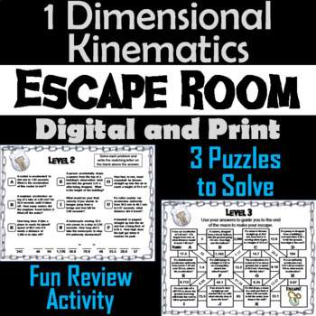 1 Dimensional Kinematics Activity: Projectile Motion Physics Escape Room