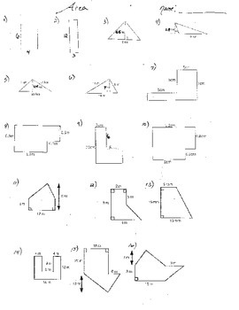 1 Double Sided Area of Irregular Figures Shapes Triangles Rectangles