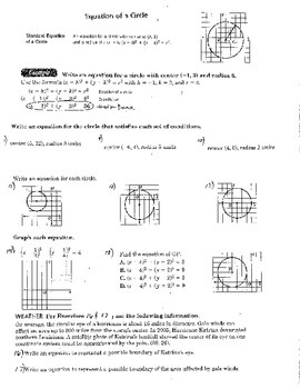 1 Double Sided Equations of Circles Geometry Algebra 2