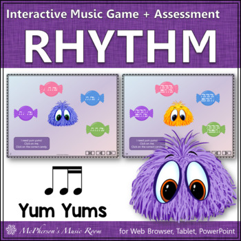 1 Eighth & 2 Sixteenth Note Yum Yums - Interactive Rhythm Game