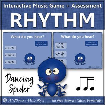 1 Eighth/2 Sixteenths - Dancing Spider {Interactive Music Game & Assessment}