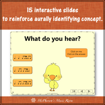 1 Eighth/2 Sixteenths Interactive Music Game {Dancing Chick}